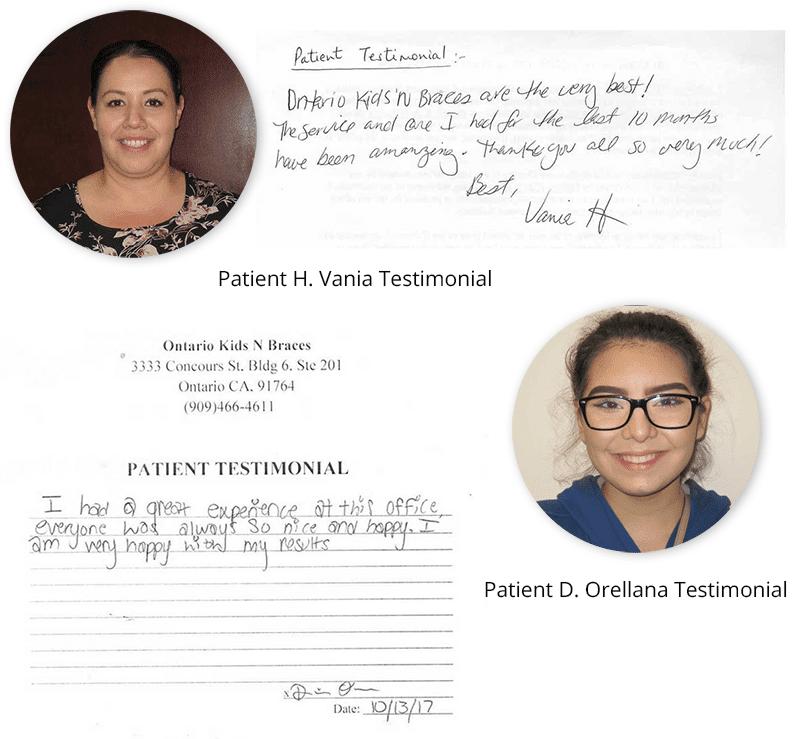 Written Patient Testimonials